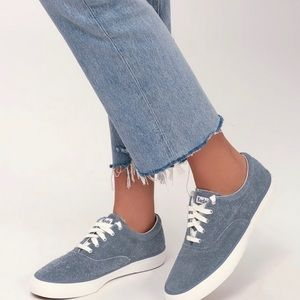 Keds Anchor Hairy Blue Suede Leather Sneakers
